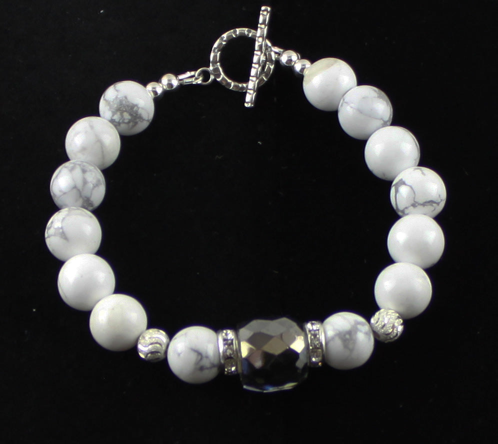 Shades of Silver and Grey Bracelet