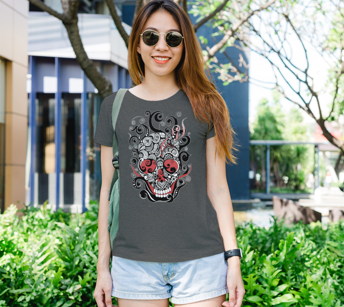 Smouldering Skull Graphic Tee