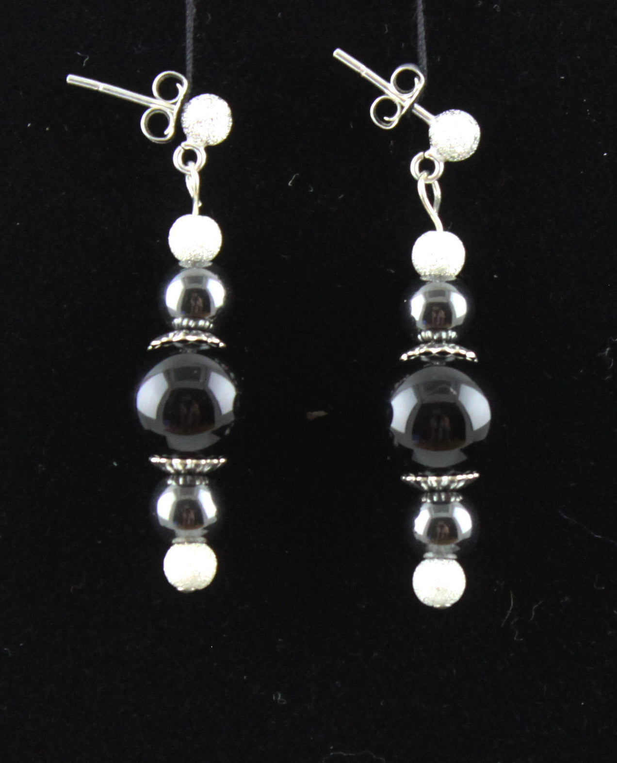 Sparkle Black and Grey Earrings