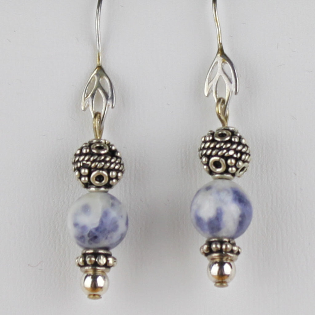 Bali Bead with Sodalite Beads