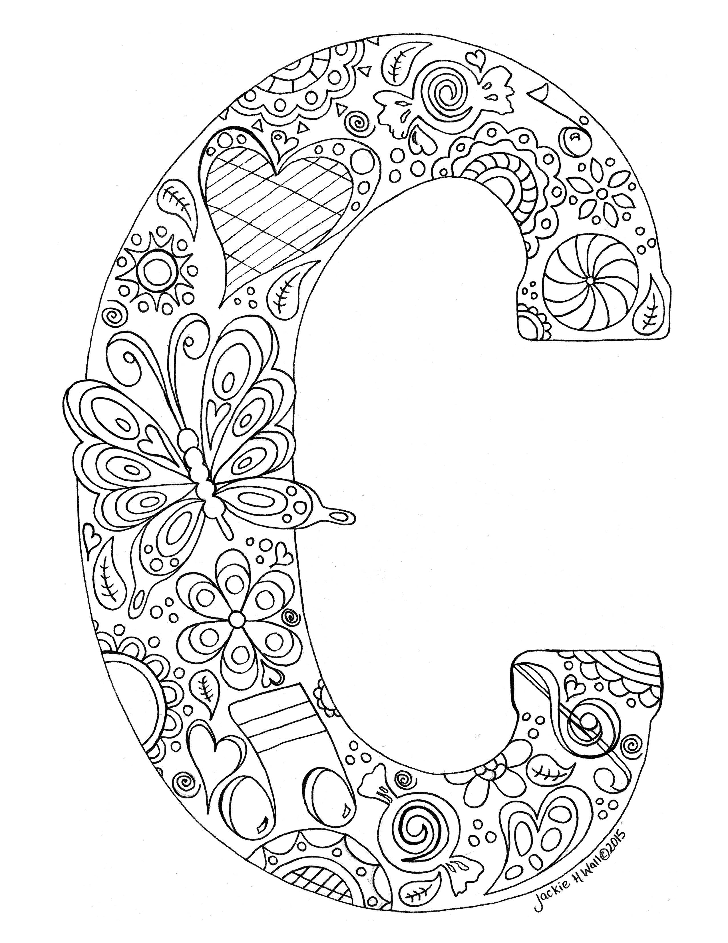 Letter C Colouring Page