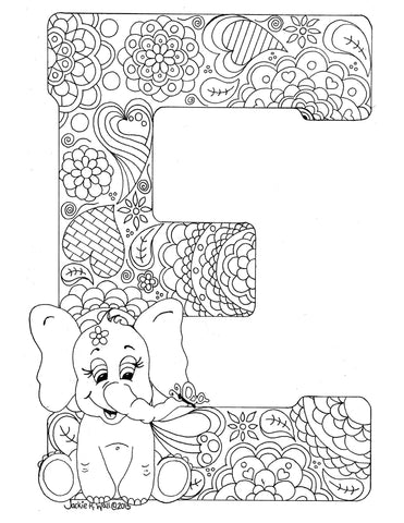 Copy of Letter E Colouring Page