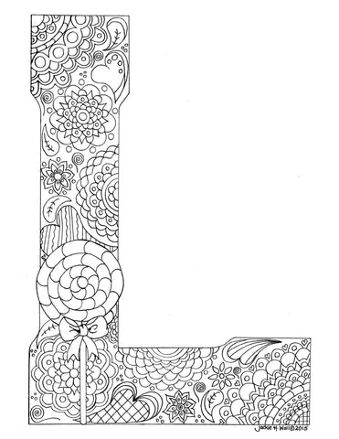 Letter L Colouring Page