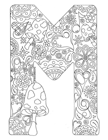 Letter M Colouring Page
