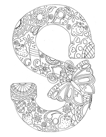 Letter S Colouring Page