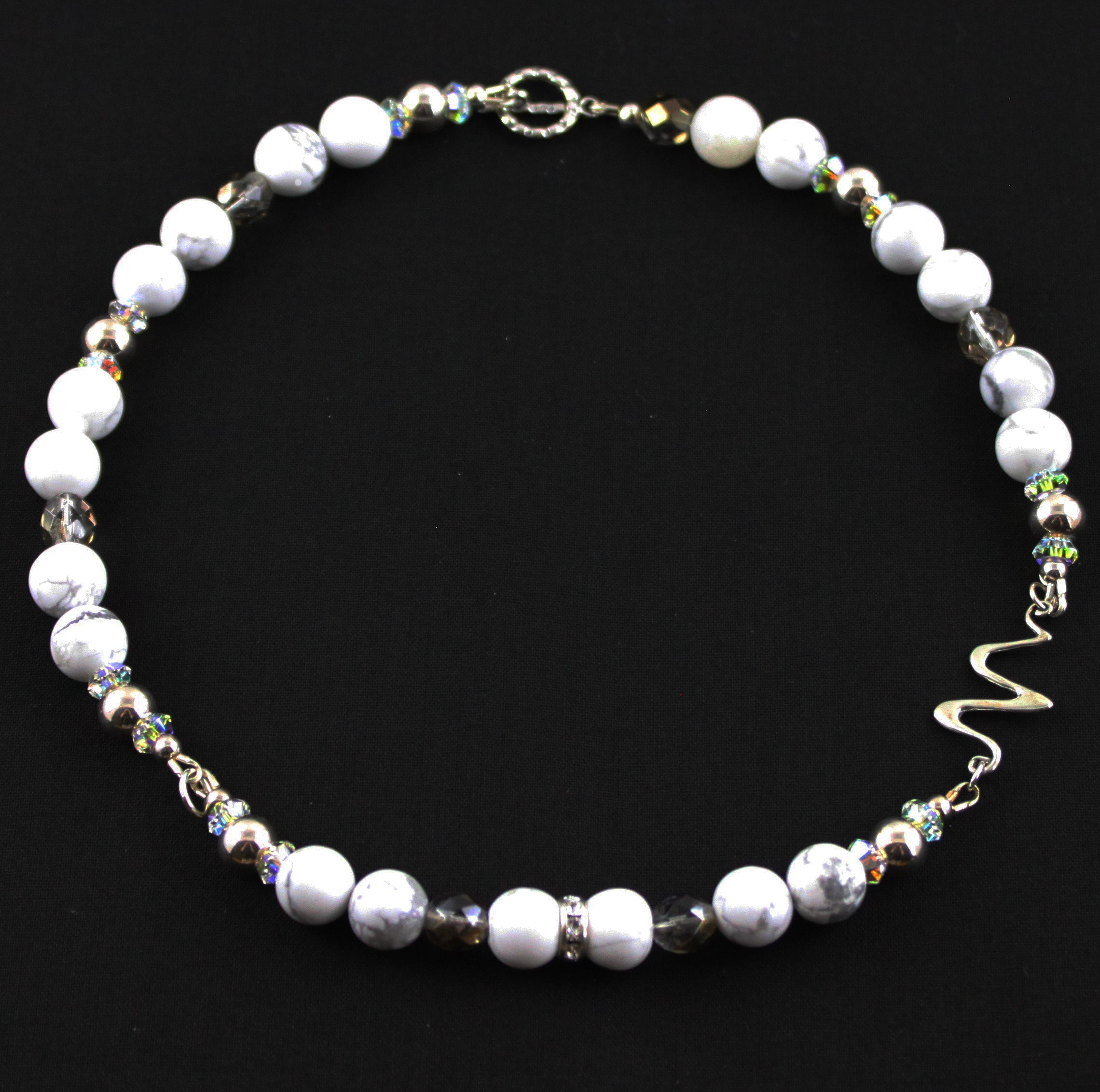 Howlite & Silver Necklace
