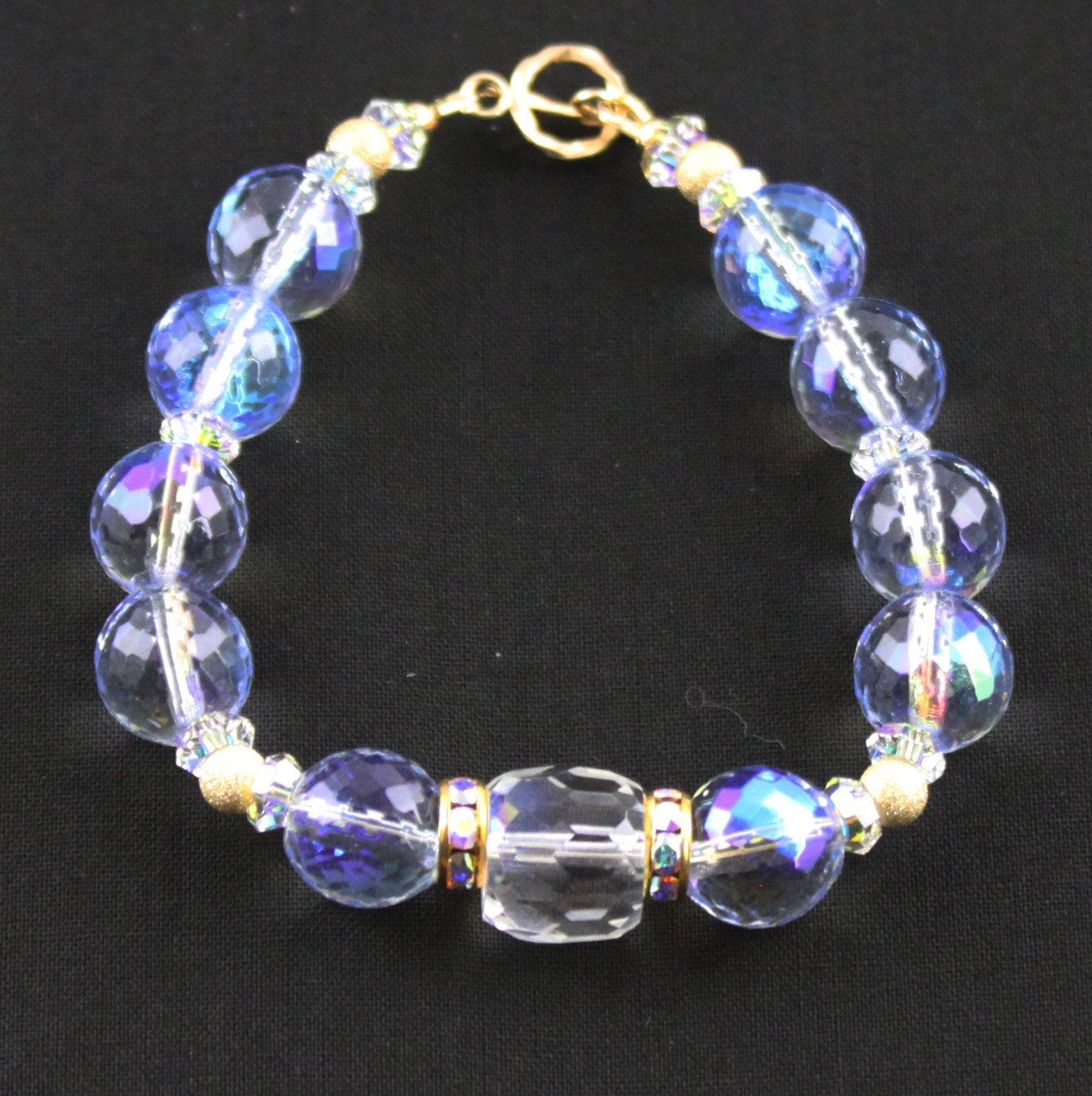 Winter Blues & Gold Filled Bracelet