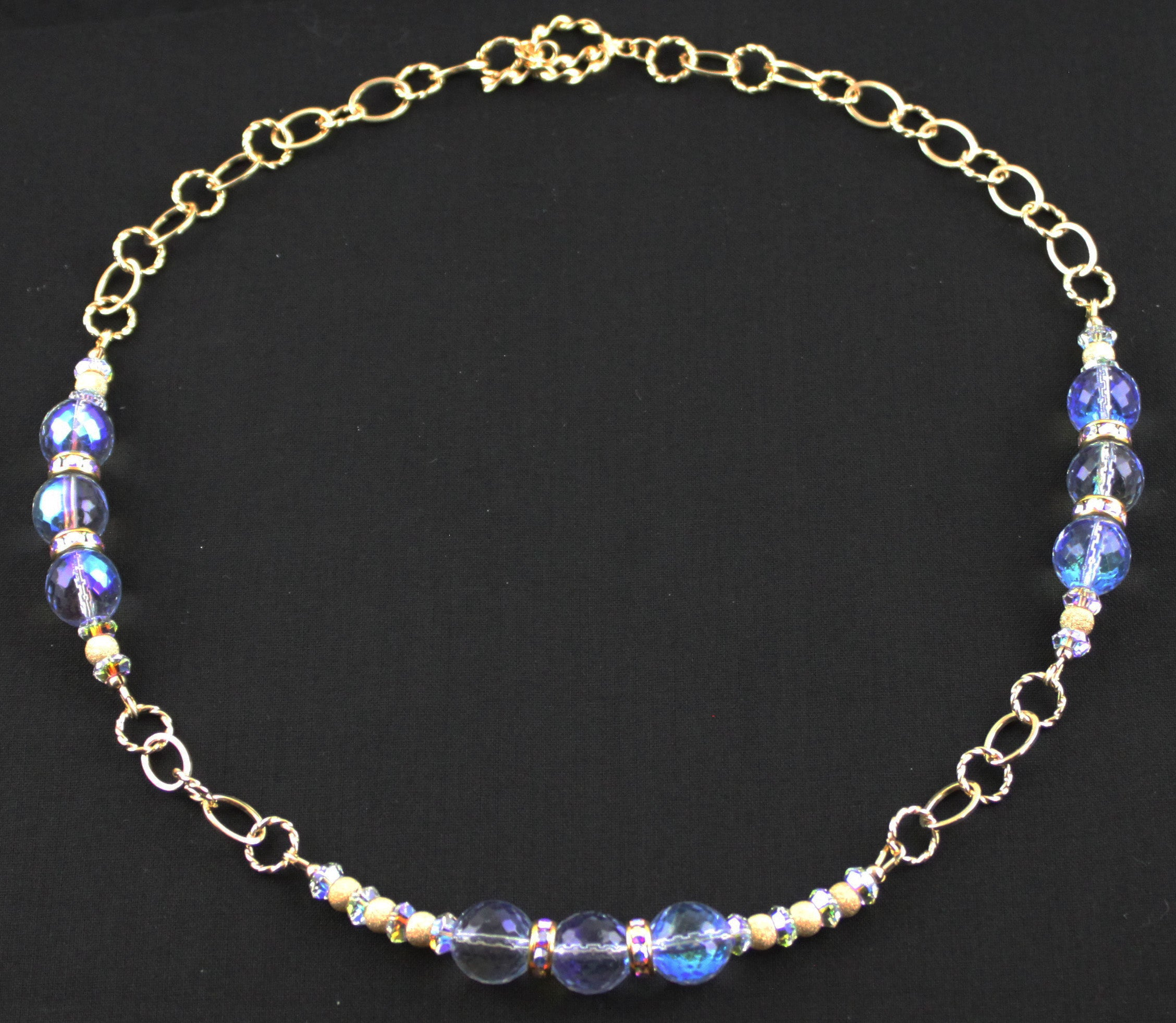 Trinity Blue Gold Filled Necklace