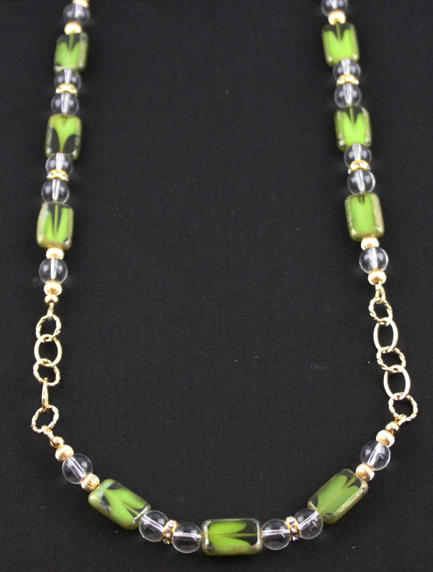 Green with Envy Gold Filled Necklace