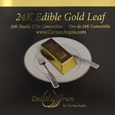 24K Edible Gold Leaf Transfer Sheets