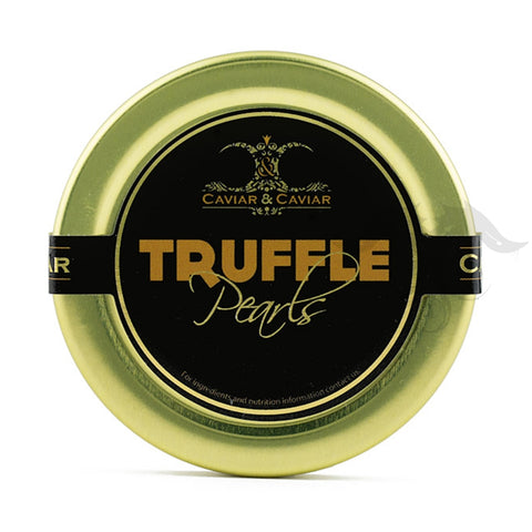 Truffle Pearls Caviar product label