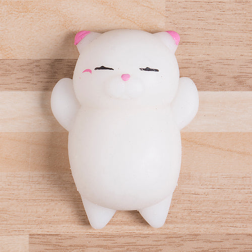 Cute Squishy Cat - Stress Relief Toy - WHITE - FREE SHIPPING - Squishy Squish