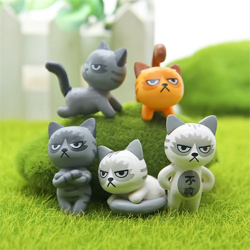 6Pcs/Set Kawaii Zakka Cute Unhappy Cats - Squishy Squish