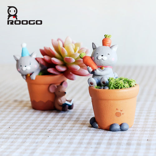 Cat Flower Pot - Succulent - Squishy Squish