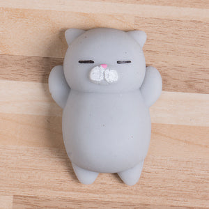 Cute Squishy Cat - Stress Relief Toy - GREY - FREE SHIPPING - Squishy Squish
