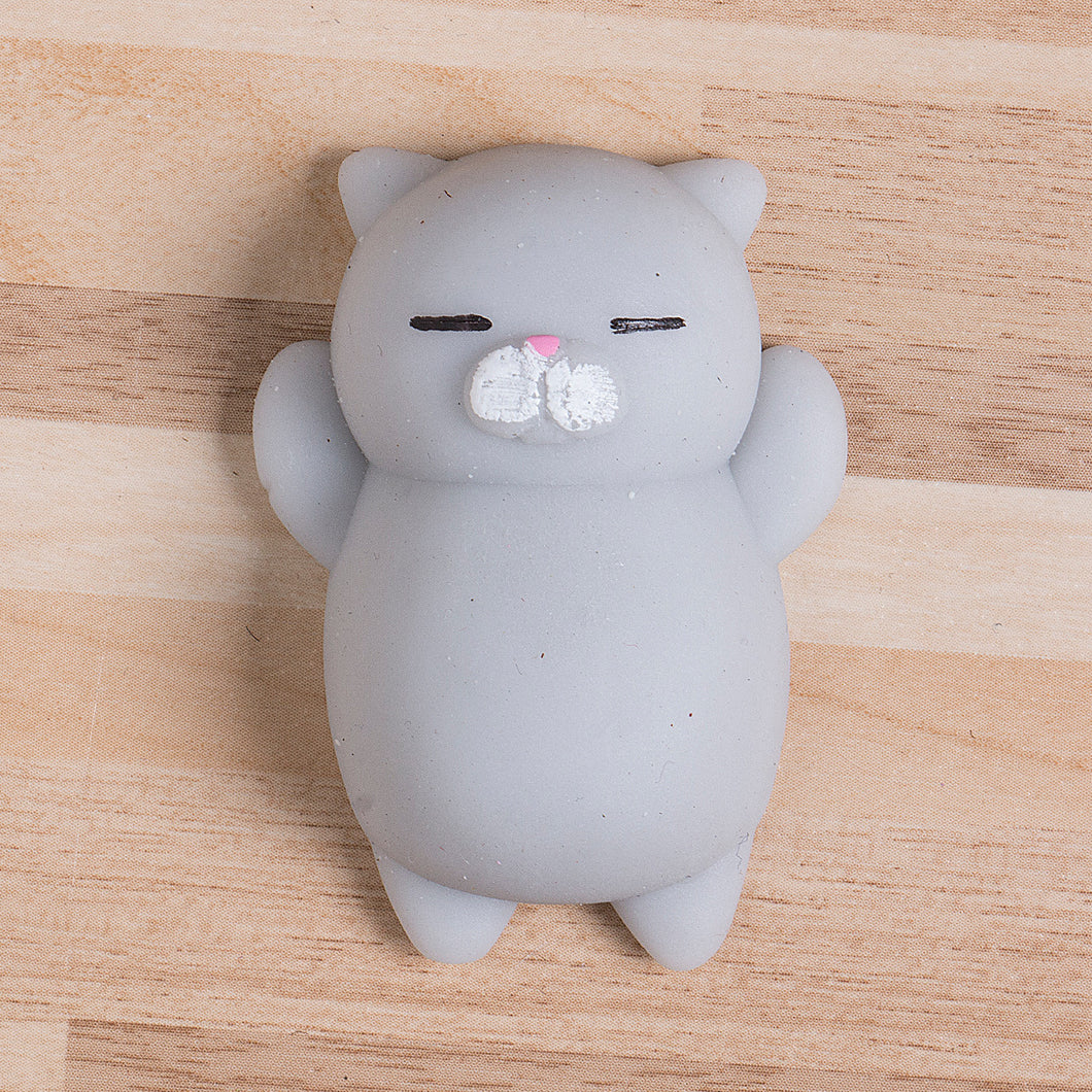 Grey Squishy Cat : Cute Squishy Cat - Stress Relief Toy - GREY - FREE SHIPPING ? Squishy Squish