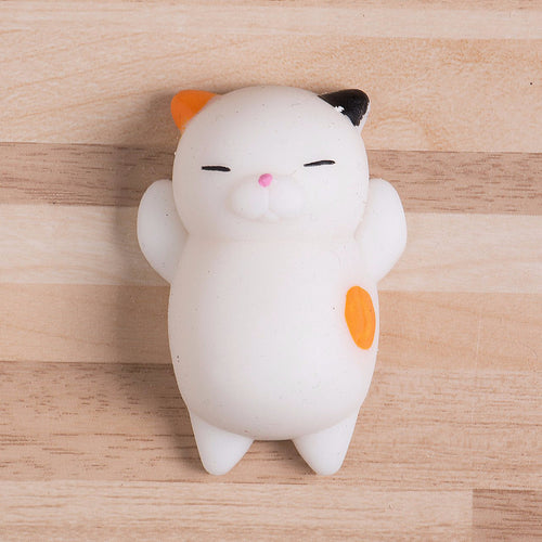 Cute Squishy Cat - Stress Relief Toy - GINGER and WHITE - FREE SHIPPING - Squishy Squish