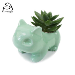 Kawaii Pokemon Ceramic Flowerpot Bulbasaur - Squishy Squish