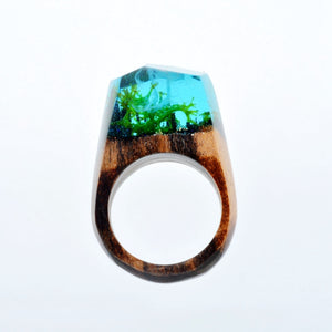 Mystic Wood Ring - Green Forest - Handmade & Unique - Squishy Squish