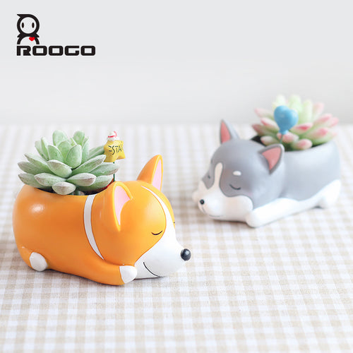 Cartoon Dogs Flower/Succulent Pot - Squishy Squish