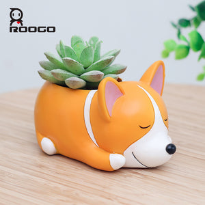 Cartoon Corgi Flower/Succulent Pot - Squishy Squish