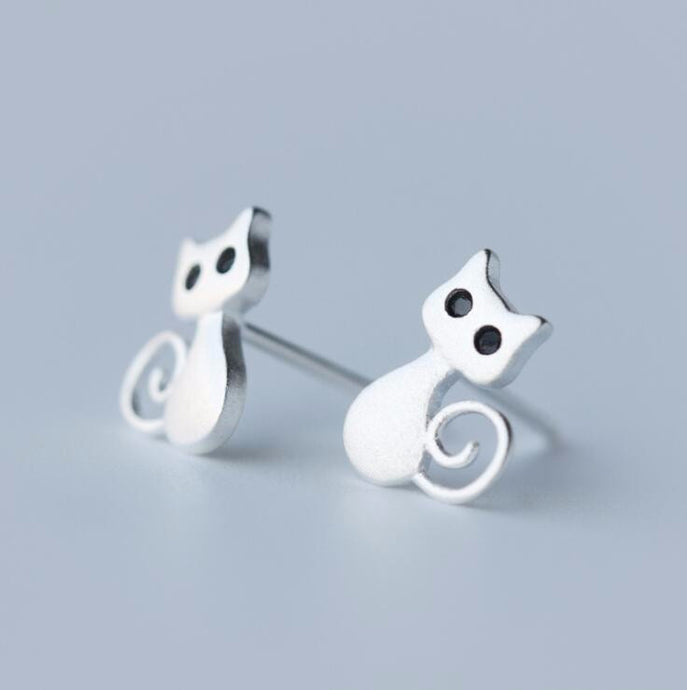 Cute Lady Cat Earrings - Squishy Squish