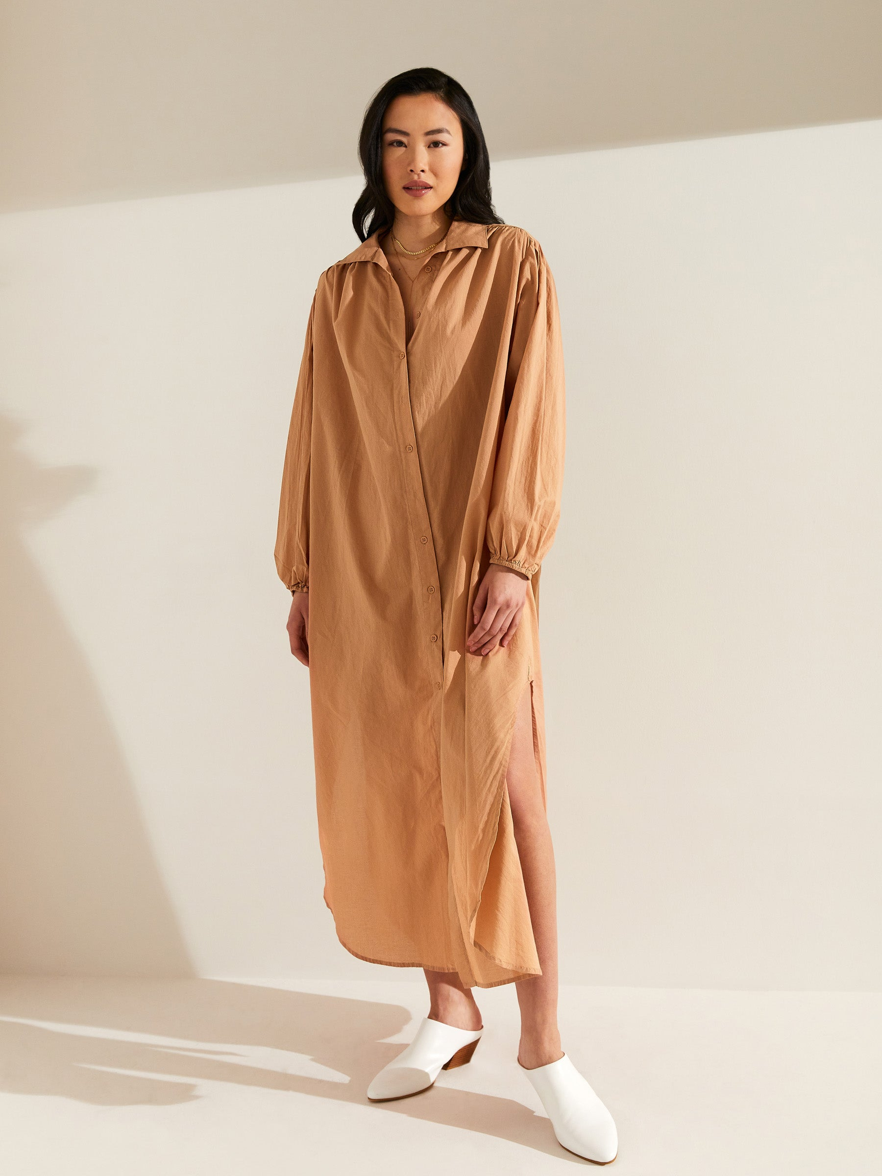 Vanessa Maxi Shirt Dress