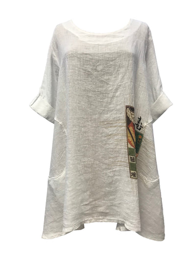 A-lined Washed Linen Tunic