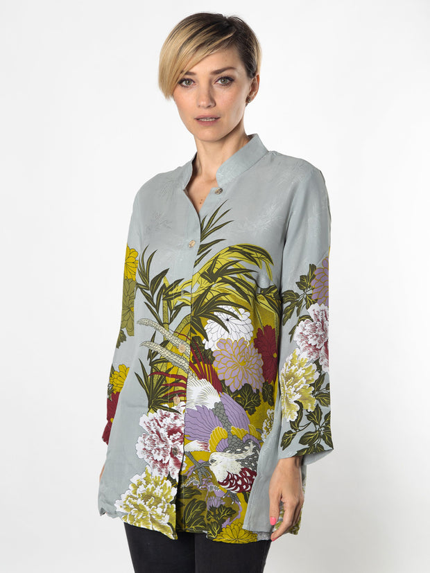 Classic Citron Tunic in Bamboo Silk