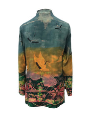 Cranes In the Garden Classic Style Tunic
