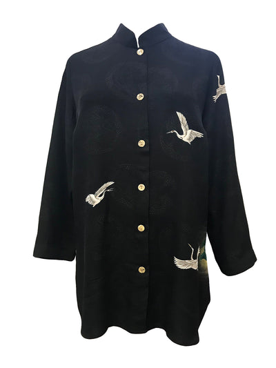 Cranes On Pagoda, Classic Style Tunic