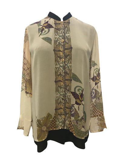 Double Layer Silk Blouse