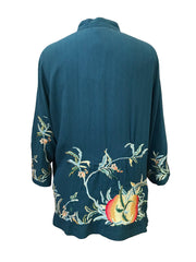Embroidered Silk Jacket
