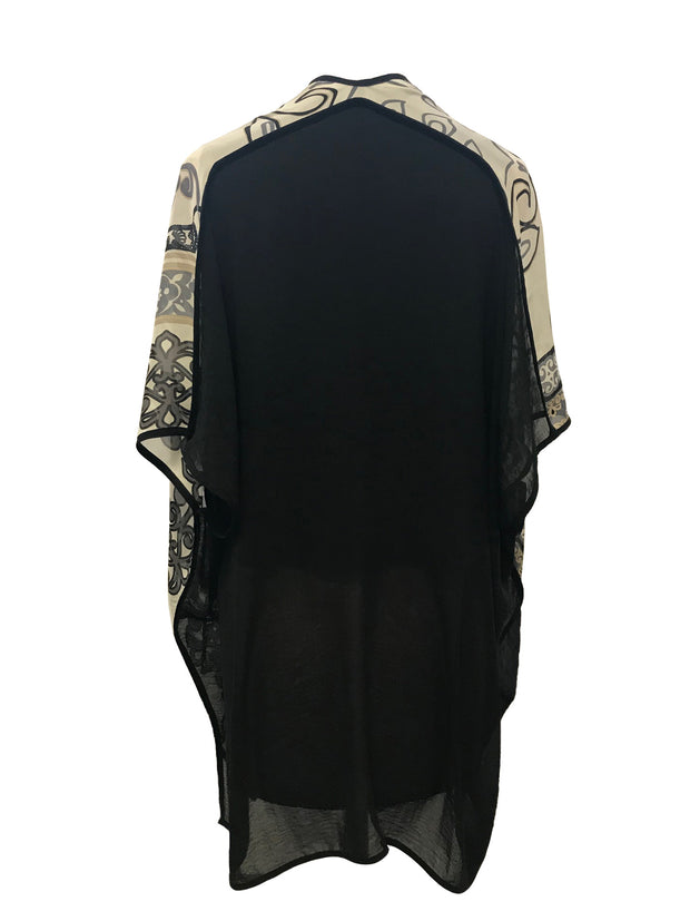 100% silk scarf design poncho style top