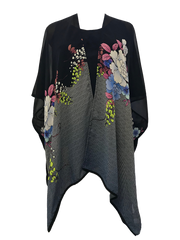 Spring Bloom Easy Wear Poncho in 100% Silk
