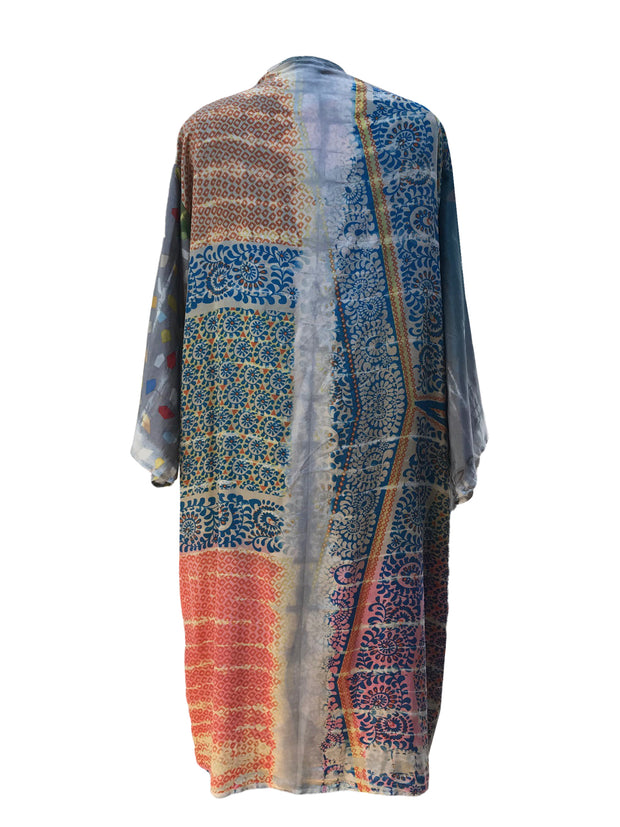 Patch Front Silk Duster