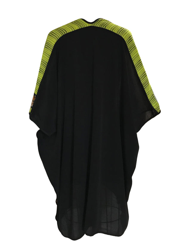 Trendy Oversized Silk Poncho
