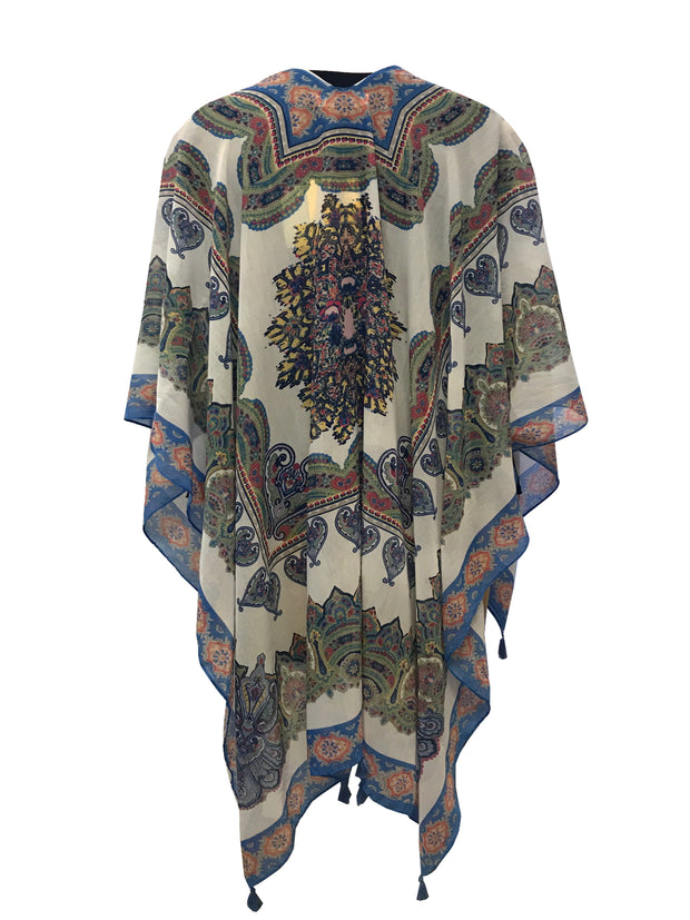 Scarf Design Poncho Cover Up