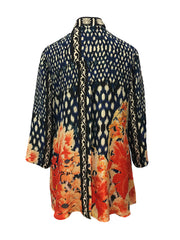 Mums Of Summer Silk Blend Blouse