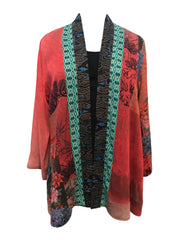 Soft Rayon Open Front Cardigan