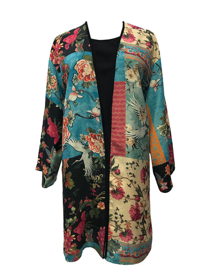 Open Front Duster in Eco Friendly Silky Fabric.