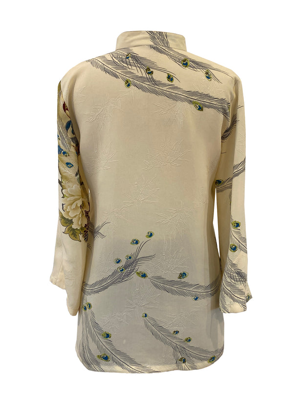 Pullover V-neck Silk Tunic