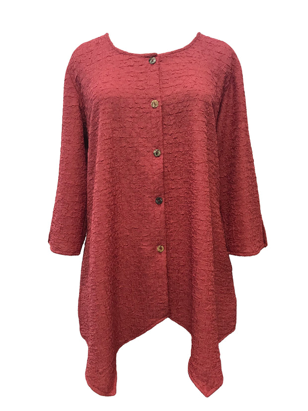 Handkerchief Comfy Blouse in Rose