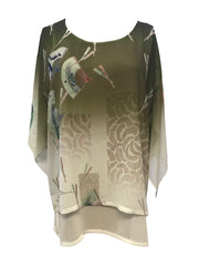 Double Layer Pullover Silk Tunic