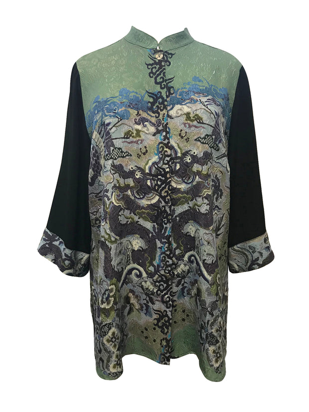Tunic Length Silk Blouse