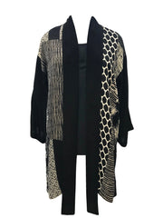 Silk Blend 3/4 Open Tie Front Duster