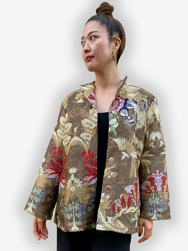 Citron Brocade Jacket