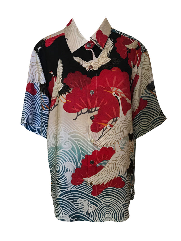 Cranes Above Water Men's Shirt