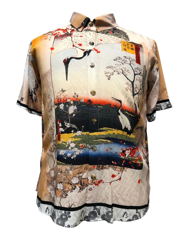 Sunshine Crane  Men's Shirt