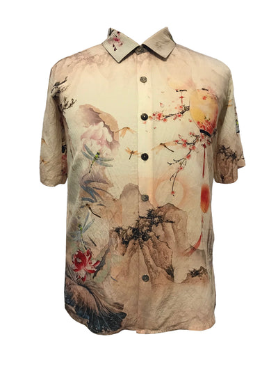 Mix Print Men's Shirt